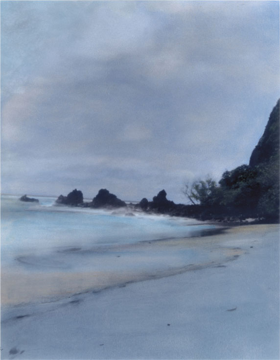 Blue Mood - Hand Colored Silver Gelatin Photography by Gwen Arkin