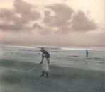 Dawn Rises Over the Indian Ocean - Hand Colored Silver Gelatin Photography by Gwen Arkin